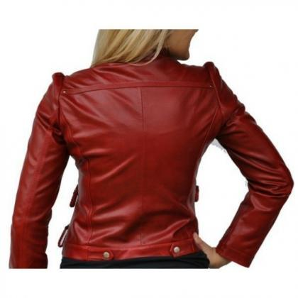 Leather Skin Women Maroon Red Genui..