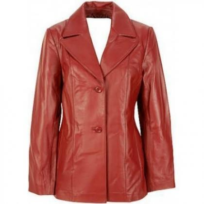 Leather Skin Women Red Genuine Real..