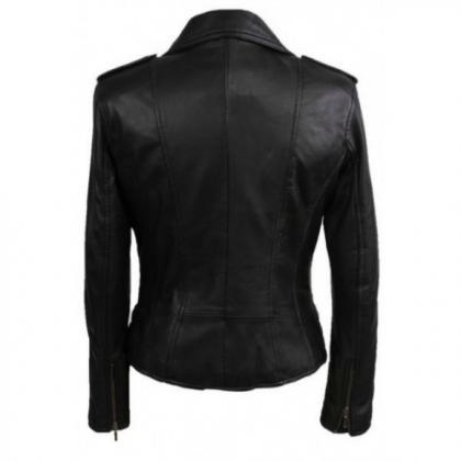 Leather Skin Women Black High Quali..