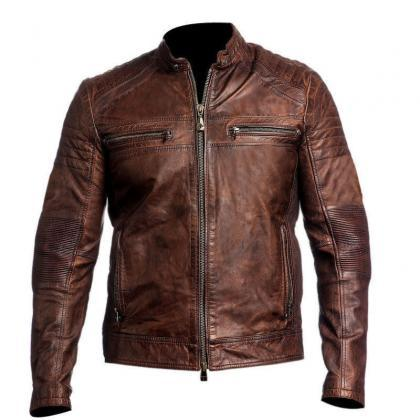 Mens Biker Vintage Motorcycle Cafe ..