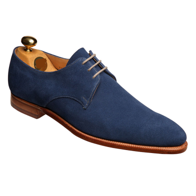 Men Blue Suede Leather Shoes with L..