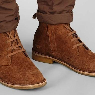 Men Brown Lace Up Suede Leather Boo..