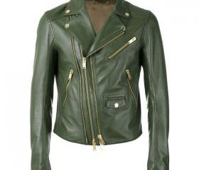 Women Green Leather ..