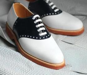 Men's Two Tone Oxfor..