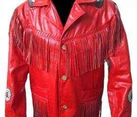 Leather Skin Men Red..