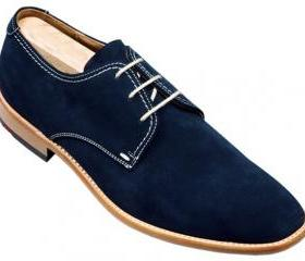 Men Blue Derby Suede..