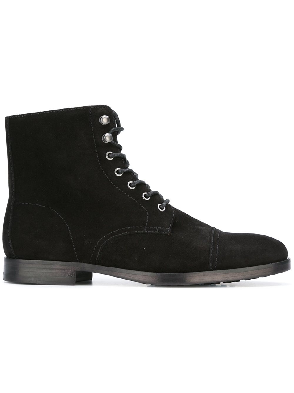 Handmade men fashion black suede lace up boots, Men's ankle boot