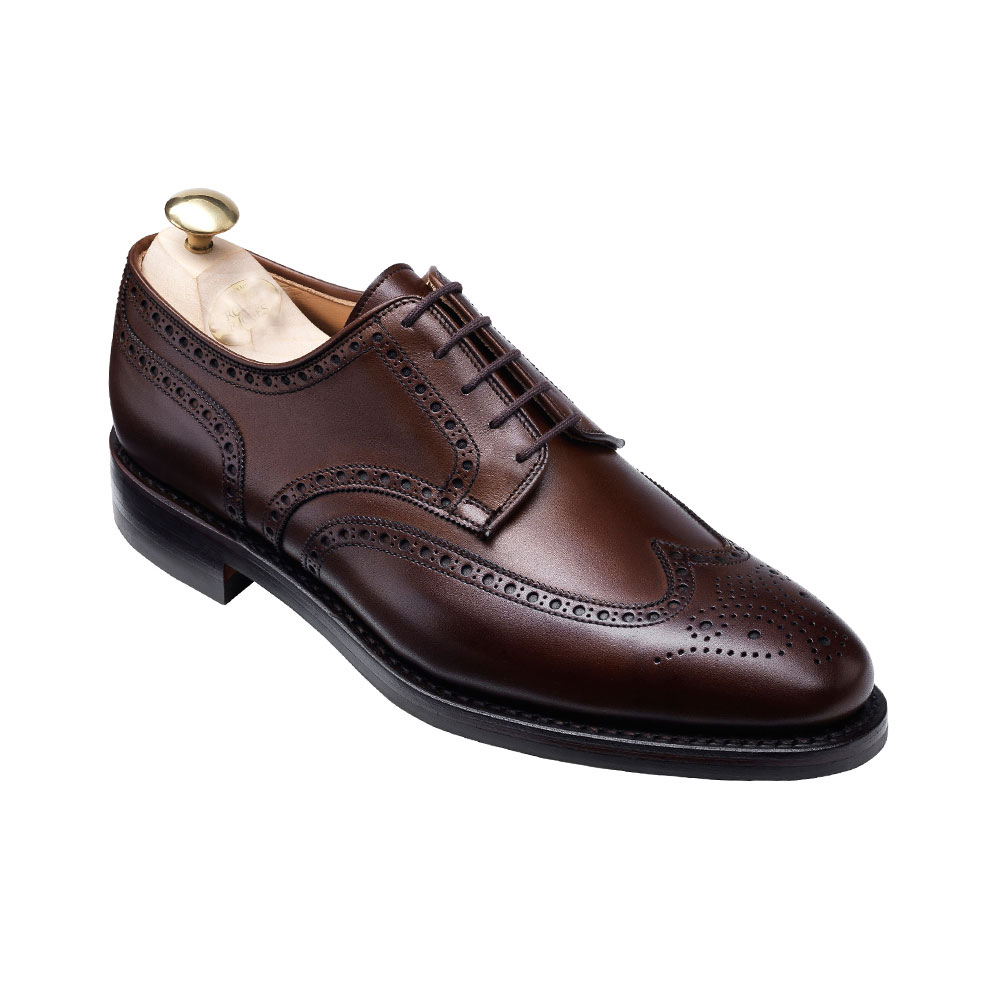 Handmade men wingtip brogue formal leather shoes, Men's dress leather shoe