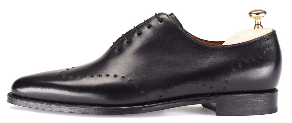 Men Black Handmade Genuine Leather Shoes