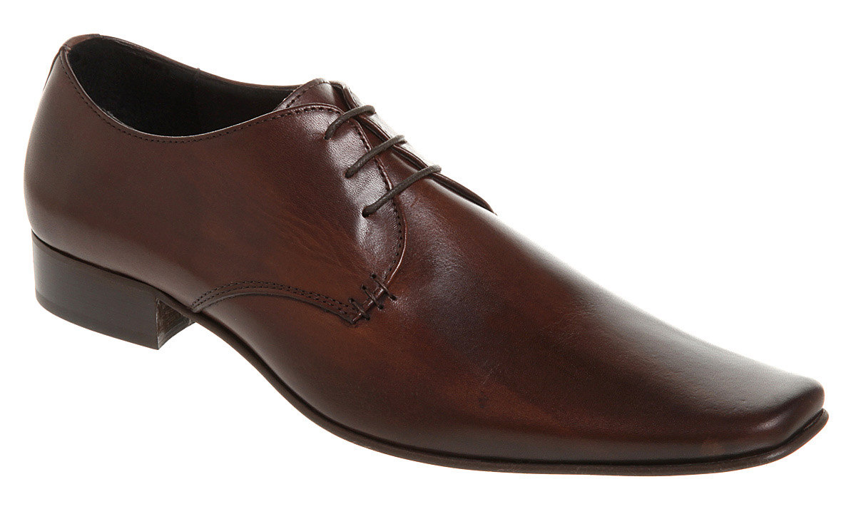 Men Brown Laces Genuine Leather Shoes