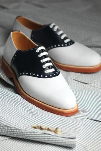 Men's Two Tone Oxford Shoes