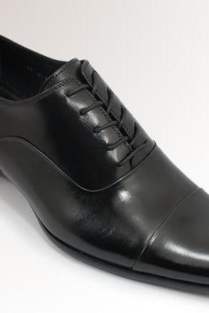 Handmade Men black shoes ,Men's dress shoe