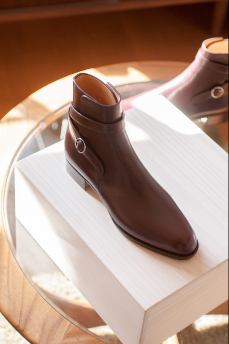 Handmade men fashion maroon jodhpur boots, Men ankle high genuine leather boot
