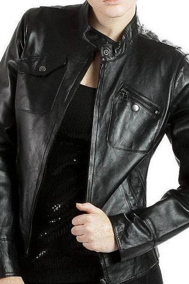Leather Skin Women Black Premium Leather Jacket