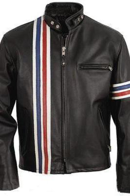 Easy Rider Captain America Peter Fonda Motorcycle Biker Vintage Leather Jacket