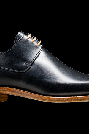 Men Black Derby Laces Genuine Leather Shoes