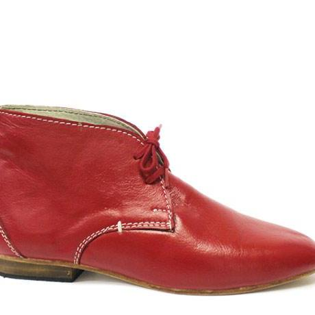 Handmade Men red color leather boots ,Men's ankle boot