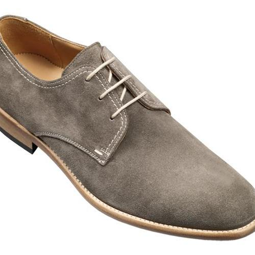 Handmade Men Derby Gray Leather Shoes, Men's Stylish Suede Casual Shoe