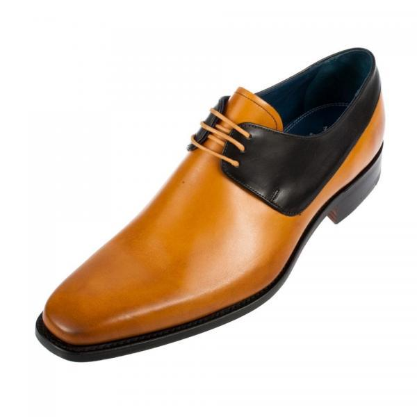 Men Tan Black Laces Genuine Leather Shoes