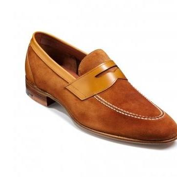 Men Brown Suede Moccasins Dress Leather Shoes